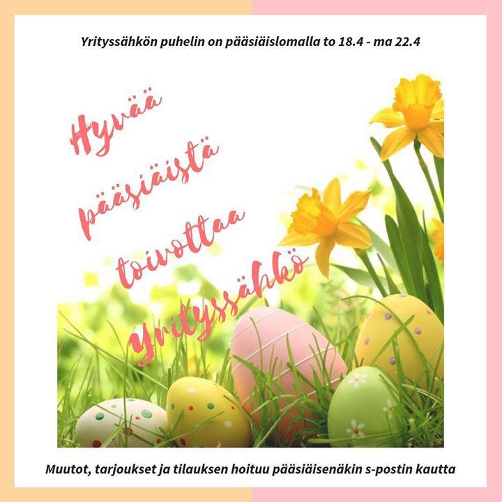 Hyvää pääsiäistä kaikille